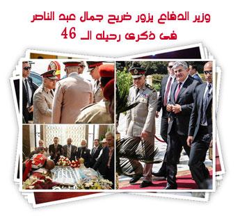 وزير الدفاع يزور ضريح جمال عبد الناصر  فى ذكرى رحيله الـ 46