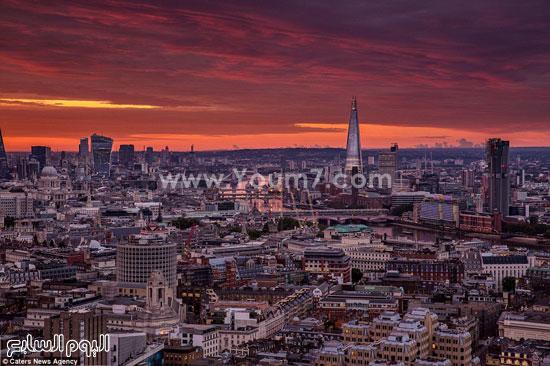 الغروب فى لندن  -اليوم السابع -10 -2015