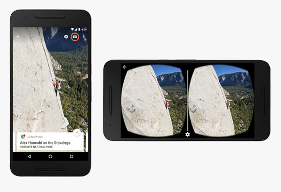 Google Street View تضيف دعما للواقع الافتراضى