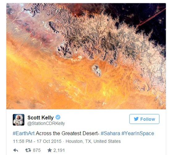 الصحراء الكبرى من الفضاء  -اليوم السابع -10 -2015