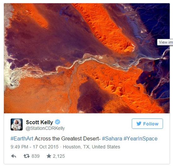 صور الصحراء الكبرى من الفضاء  -اليوم السابع -10 -2015