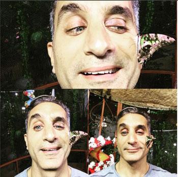 باسم يوسف ينشر صور له مع ابنته في حديقة الفراشات بدبى 2 19/10/2015 - 7:26 م