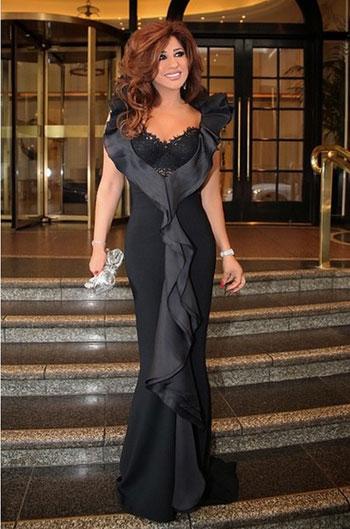 728ffd74c إطلالة ملكية للفنانة اللبنانية نجوى كرم بفستان أسود -اليوم السابع -10 -2015