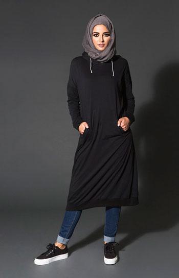التونيك الأسود موضة ملابس المحجبات -اليوم السابع -10 -2015