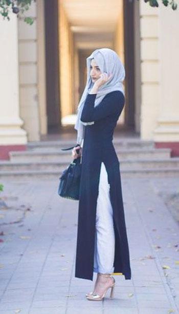 dccd19296274a 10 موديلات ملابس محجبات عملية للجامعة.. مريحة وألوانها جذابة - اليوم ...