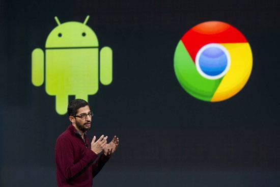 جوجل تدمج نظامى التشغيل Chrome OS وأندرويد معا