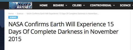 عاصفة ضخمة تغرق الأرض فى الظلام لأسبوعين