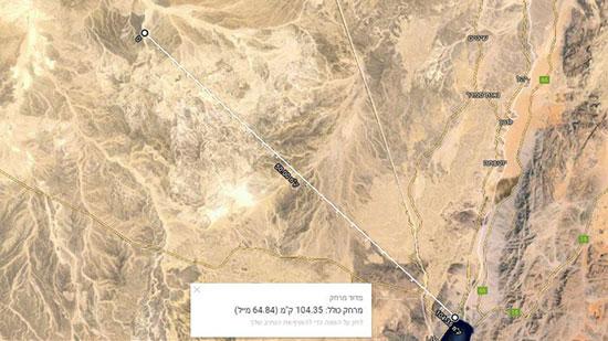 تحديد موقع سقوط الطائرة على الخريطة -اليوم السابع -10 -2015