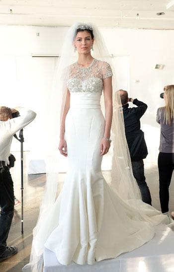 1fcd0cc39fad0 فستان زفاف أنيق ومبهر التفاصيل -اليوم السابع -10 -2015