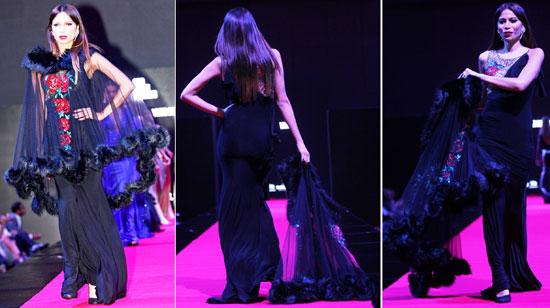 شكل الفستان فى عرض أزياء بهيج حسين -اليوم السابع -11 -2015