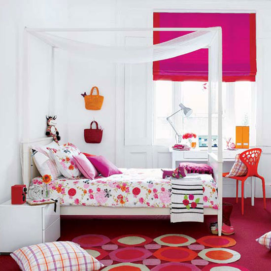 غرفة نوم مشرقة ومبهجة بفضل المفروشات -اليوم السابع -11 -2015
