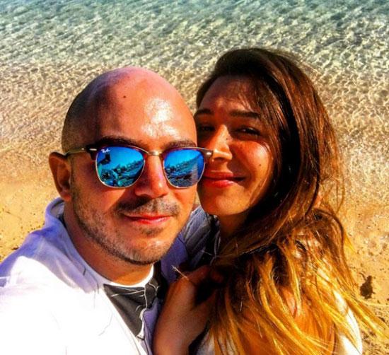 محمود العسيلى وزوجته فى جزر المالديف -اليوم السابع -11 -2015