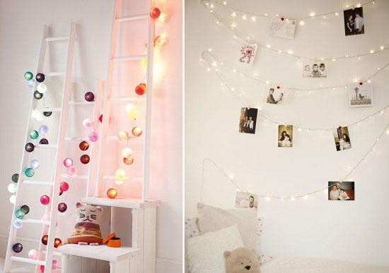 أفكار لاستخدام أضواء الكريسماس فى تزيين الغرفة -اليوم السابع -11 -2015