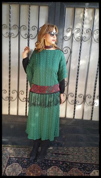 فستان شتوى بلمسات تراثية  -اليوم السابع -11 -2015