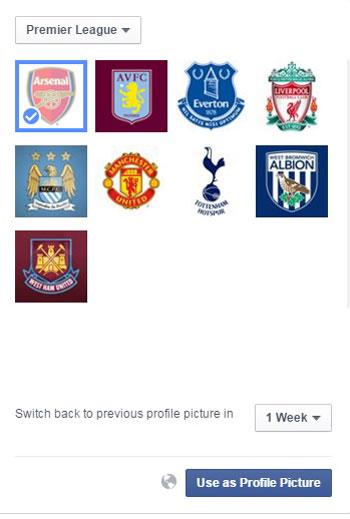 Facebook يتيح تغيير صورة البروفايل بأعلام الأندية المفضلة لك