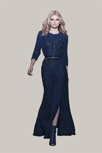 اللون الأزرق كان أحد اختيارات المصمم اللبنانى إيلى صعب -اليوم السابع -11 -2015