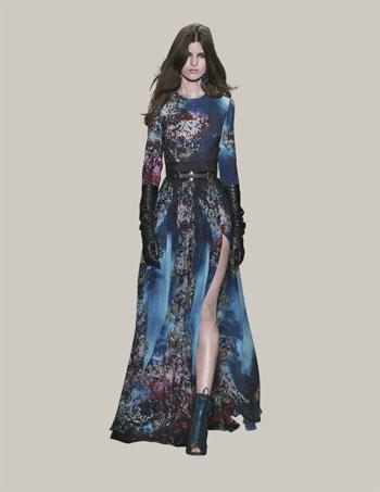فستان طويل من الألوان الزاهية لشتاء 2016  -اليوم السابع -11 -2015