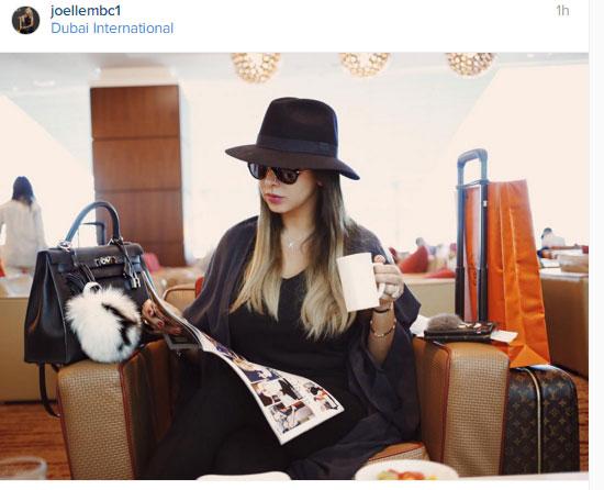 جويل ماردينيان فى مطار دبى  -اليوم السابع -11 -2015