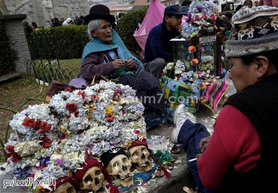 جانب من يوم الجماجم فى بوليفيا -اليوم السابع -11 -2015