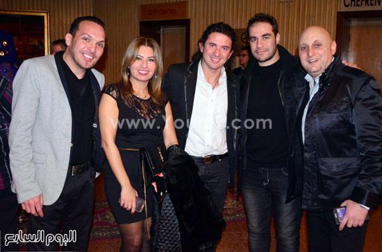 الـ dj ياسر الحريري و الاعلامية شيماء السباعي و تامر بيجاتو الحضور