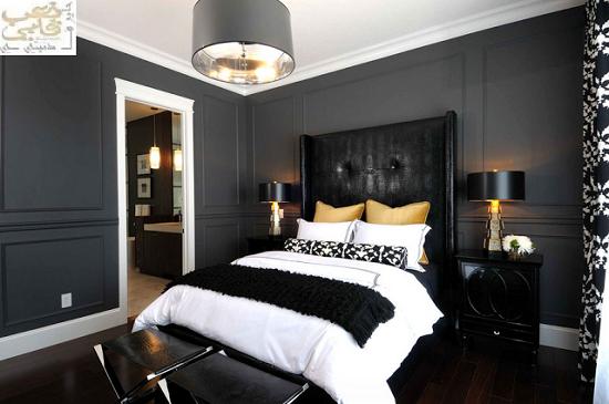 غرف نوم سوداء موضة هذا العصر اشكال حديثة 2016