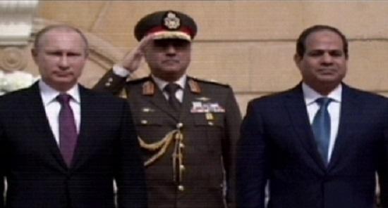 الرئيس عبد الفتاح السيسى فى استقبال الرئيس الروسى بوتين -اليوم السابع -1 -2016
