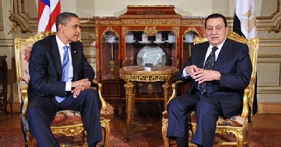 الرئيس السابق حسنى مبارك فى استقبال الرئيس الامريكى باراك اوباما -اليوم السابع -1 -2016