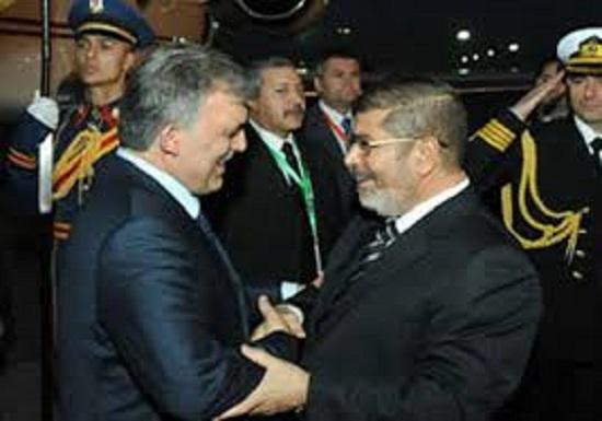 الرئيس المعزول محمد مرسى فى استقبال الرئيس التركى عبد الله جول -اليوم السابع -1 -2016