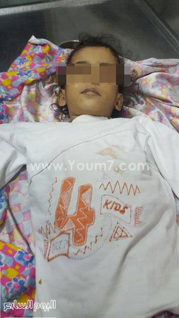 جثة الطفلة المتوفية بمستشفى المحلة بالغربية (3)