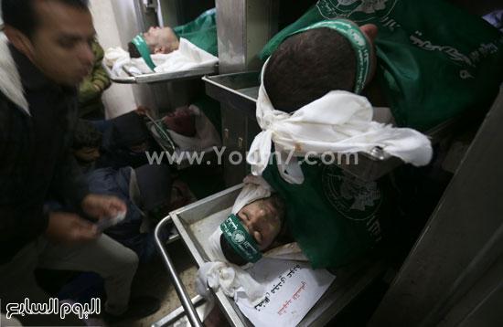 جثامين 7 قتلى من حماس فى غزة (13)