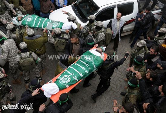 جثامين 7 قتلى من حماس فى غزة (18)
