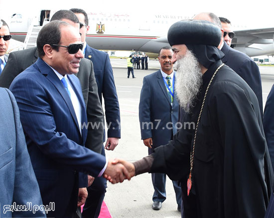 استقبال الرئيس السيسي في إثيوبيا (1)