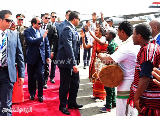 استقبال الرئيس السيسي في إثيوبيا (2)