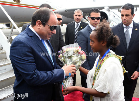استقبال الرئيس السيسي في إثيوبيا (4)