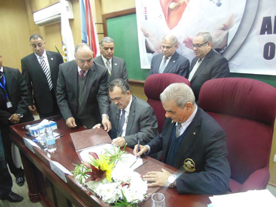 برتوكول تعاون مع منظمة الصحة العالمية ونادى روتارى، (1)