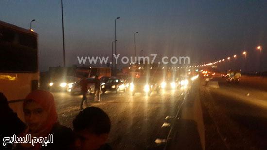 الطريق الدائرى، تصادم سيارات، منطقة اكتوبر (4)