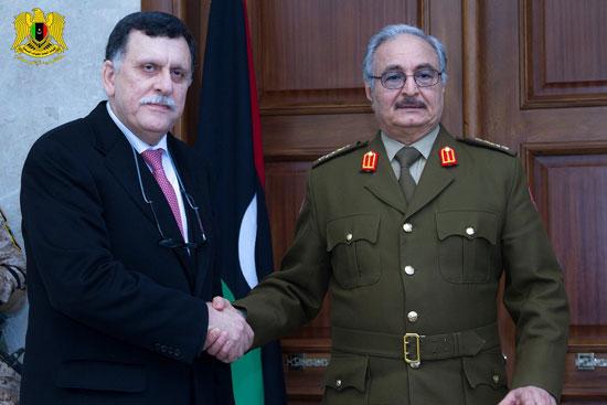 حفتر يلتقى المرشح لرئاسة حكومة الوفاق الوطنى  (2)