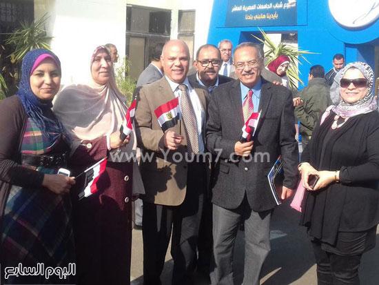 قيادات الجامعة  يستقبلون أطفال الدوحة -اليوم السابع -12 -2015