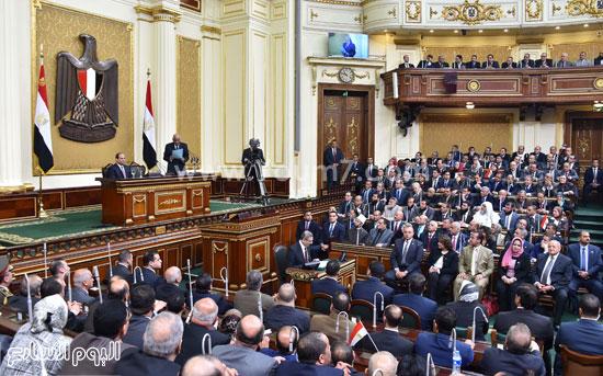 1السيسى الرئيس عبد الفتاح السيسى مجلس النواب خطاب الرئيس فى البرلمان البرلمان (7)