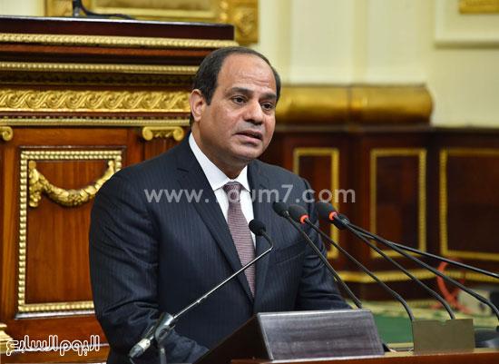 1السيسى الرئيس عبد الفتاح السيسى مجلس النواب خطاب الرئيس فى البرلمان البرلمان (8)