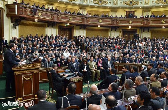 1السيسى الرئيس عبد الفتاح السيسى مجلس النواب خطاب الرئيس فى البرلمان البرلمان (9)