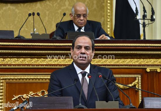 1السيسى الرئيس عبد الفتاح السيسى مجلس النواب خطاب الرئيس فى البرلمان البرلمان (10)