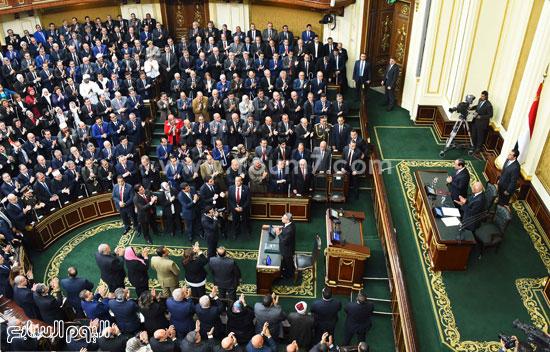 1السيسى الرئيس عبد الفتاح السيسى مجلس النواب خطاب الرئيس فى البرلمان البرلمان (12)