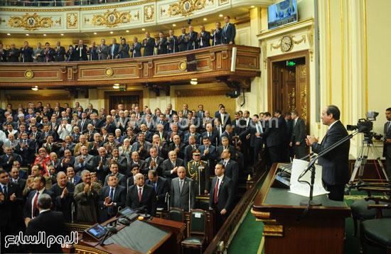 1السيسى الرئيس عبد الفتاح السيسى مجلس النواب خطاب الرئيس فى البرلمان البرلمان (1)