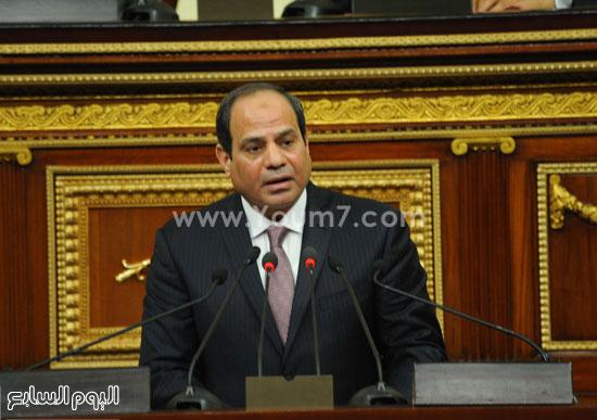 1السيسى الرئيس عبد الفتاح السيسى مجلس النواب خطاب الرئيس فى البرلمان البرلمان (2)