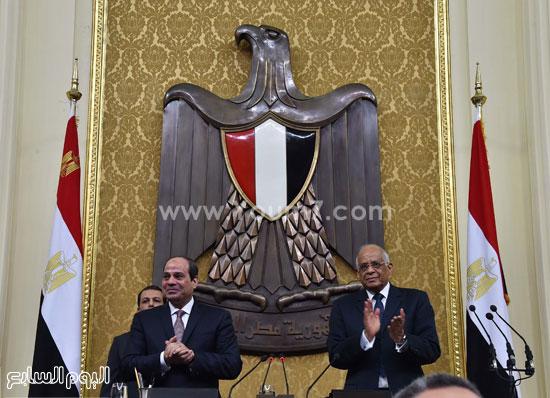 1السيسى الرئيس عبد الفتاح السيسى مجلس النواب خطاب الرئيس فى البرلمان البرلمان (3)