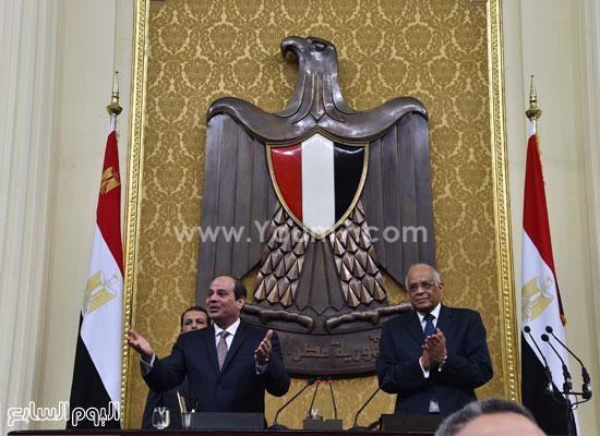 1السيسى الرئيس عبد الفتاح السيسى مجلس النواب خطاب الرئيس فى البرلمان البرلمان (4)