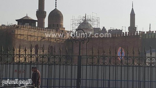أعمال ترميم الجامع الأزهر (11)