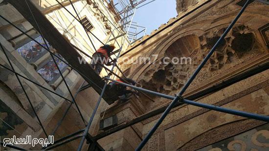 أعمال ترميم الجامع الأزهر (12)