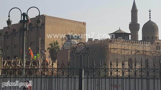 أعمال ترميم الجامع الأزهر (13)